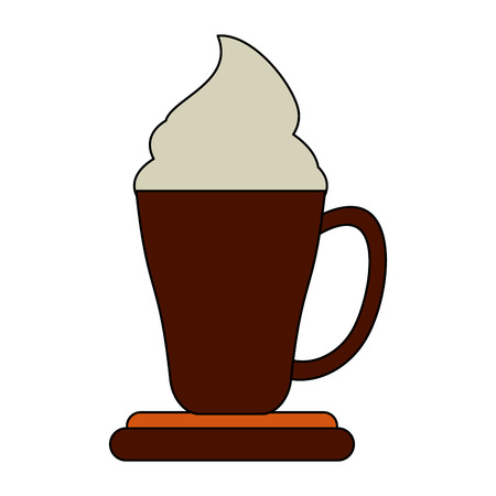Coffee with chantilly cream icon vector illustration graphic design Banco de Imagens - 91388799