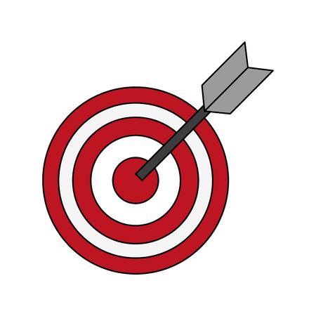 Target dartboard symbol icon vector illustration graphic design Ilustração