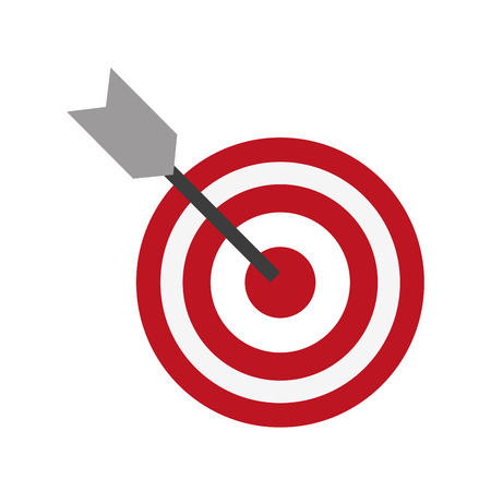 Target dartboard symbol icon vector illustration graphic design Stock Illustratie