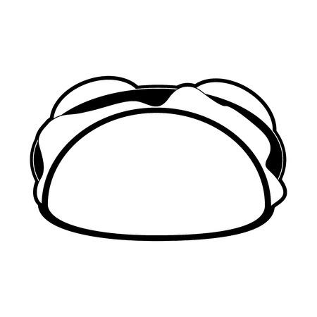 Burrito delicious food icon vector illustration graphic design