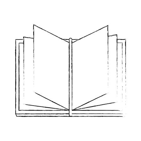 Book open isolated icon vector illustration graphic design Ilustração