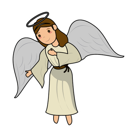 Beautiful angel cartoon icon vector illustration graphic design Illustration
