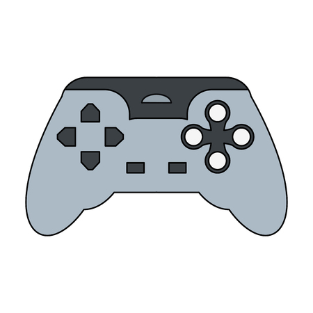 Gamepad console controller icon vector illustration graphic design Illustration