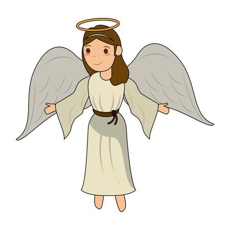 Beautiful angel cartoon icon vector illustration graphic design Illusztráció