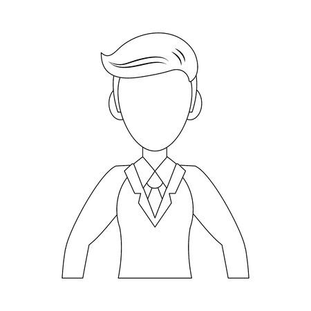 Man avatar cartoon icon illustration graphic design. Illustration