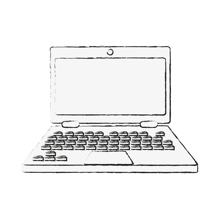 Laptop PC technology icon illustration graphic design.