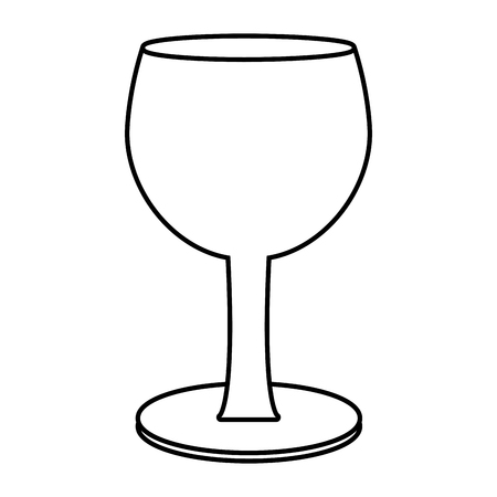 Glass cup isolated icon vector illustration, graphic design.