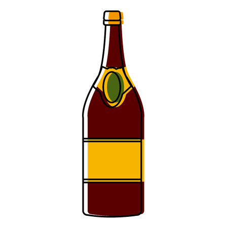Champagne bottle icon vector illustration graphic design