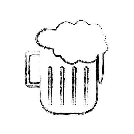 Beer glass cup icon vector illustration graphic design