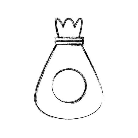 Sack bag symbol icon vector illustration graphic design