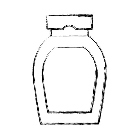 Empty bottle isolated icon vector illustration graphic design