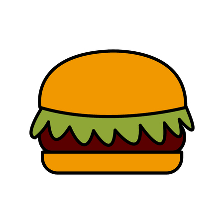 Hamburger fast food icon vector illustration graphic design