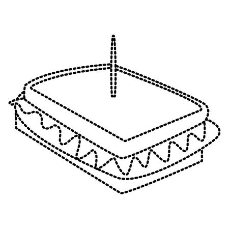 Sandwich, delicious food icon, vector illustration, graphic design Illustration