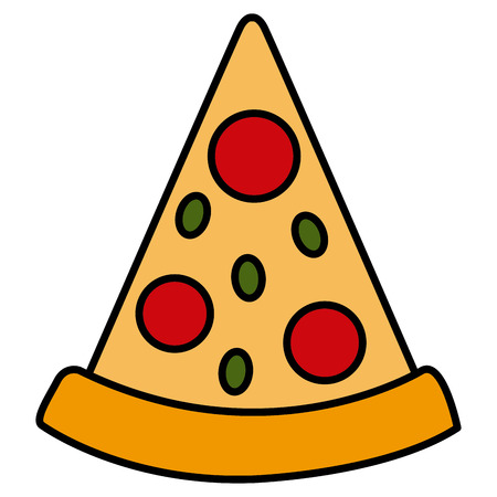 Pizza italian food symbol icon vector illustration graphic design Illustration