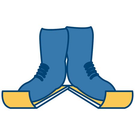 Ski boots sport equipment icon vector illustration graphic design