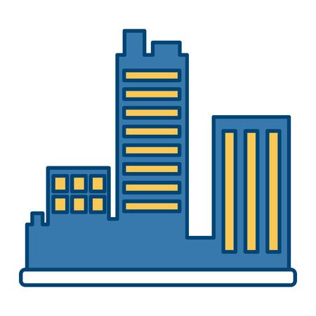 City buildings symbol icon vector illustration graphic design Vectores