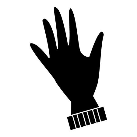 Winter glove isolated icon vector illustration graphic design