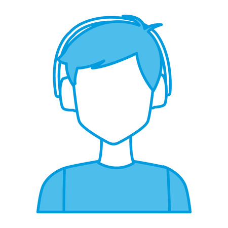 Young man with earmuffs icon vector illustration graphic design Illustration