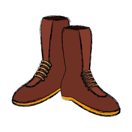 Man boots footwear icon illustration graphic design.
