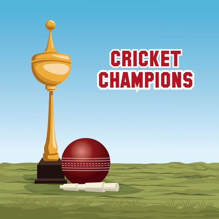Cricket champions design icon vector illustration graphic design Ilustração
