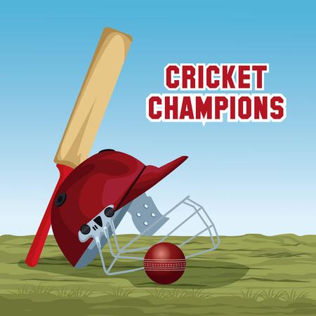 Cricket champions design icon vector illustration graphic design Illustration
