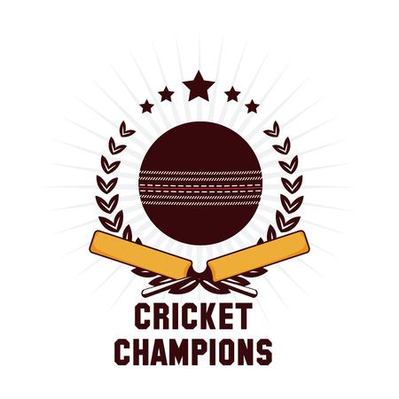 Cricket champions emblem icon vector illustration graphic design Illustration