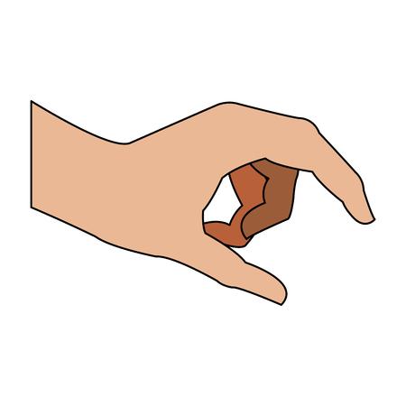Hand holding something icon vector illustration graphic design