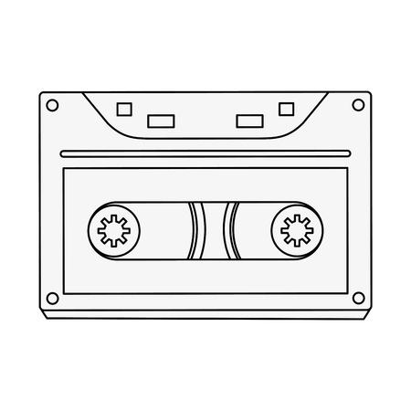 Old cassette media icon vector illustration graphic design
