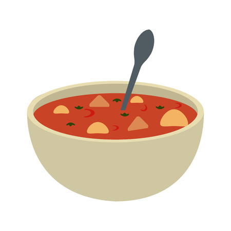 Soup delicious food icon vector illustration graphic design