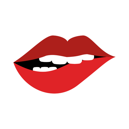 Sexy lips cartoon icon vector illustration, graphic design.