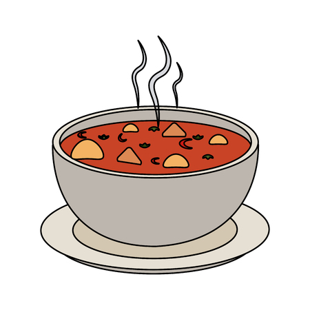 Soup delicious food icon vector illustration, graphic design.