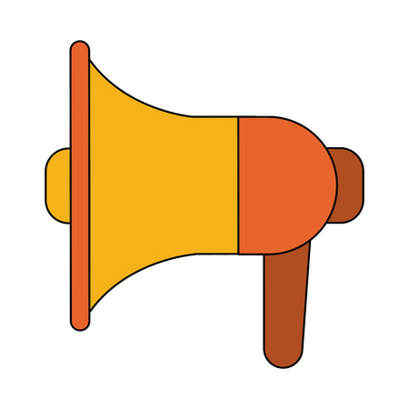 Bullhorn advertising symbol icon vector illustration, graphic design.