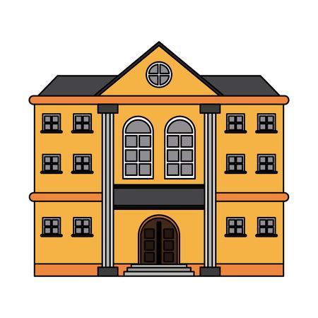 Mansion with columns icon vector illustration, graphic design. Illustration