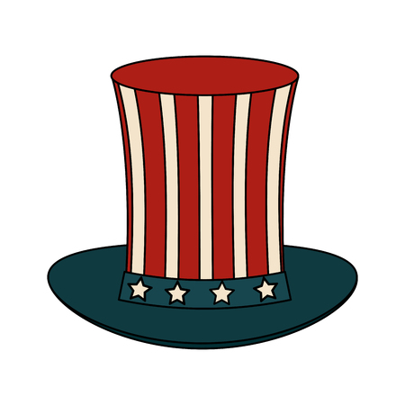 USA sam uncle hat icon vector illustration graphic design