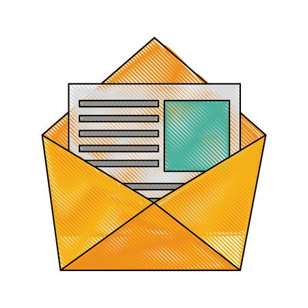 Envelope open symbol icon vector illustration graphic design
