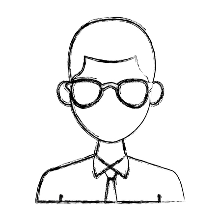Young man with elegant clothes and sunglasses icon vector illustration graphic design Stock Illustratie