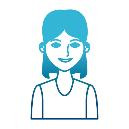 Young woman profile cartoon icon vector illustration graphic design