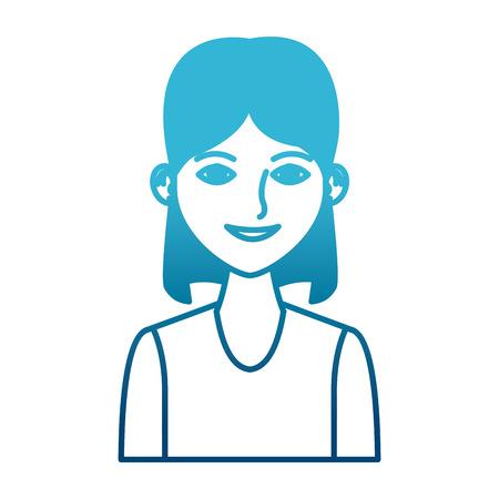 Young woman profile cartoon icon vector illustration graphic design