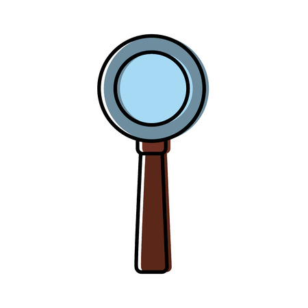 Magnifying glass symbol icon illustration. Illustration