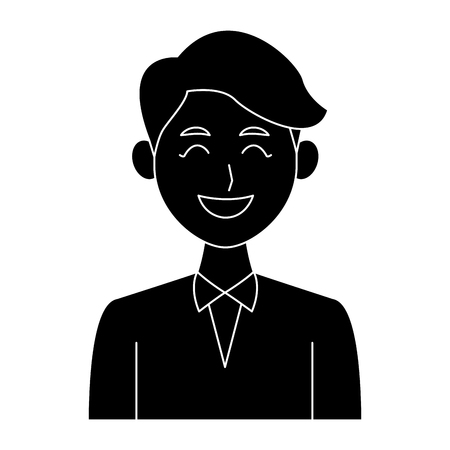Young man with elegant clothes icon vector illustration graphic design
