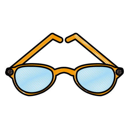 Sunglasses fashion lens icon vector illustration graphic design