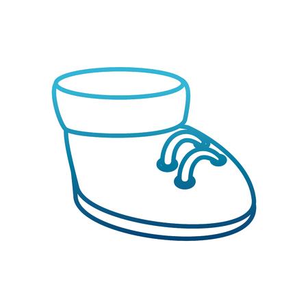 Cute boot cartoon icon vector illustration graphic design