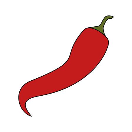 Chili spicy food icon illustration graphic design. Illustration