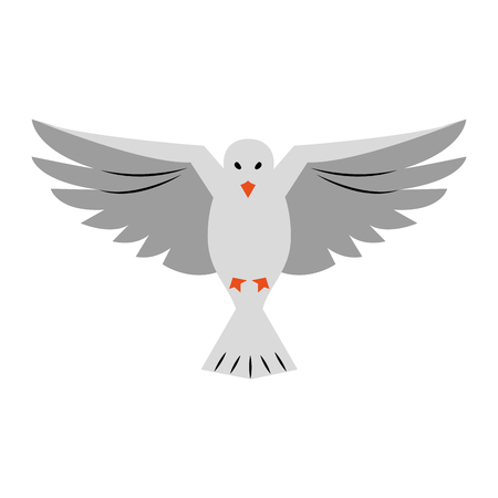 Dove bird symbol icon vector illustration graphic design  イラスト・ベクター素材