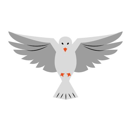 Dove bird symbol icon vector illustration graphic design Vettoriali