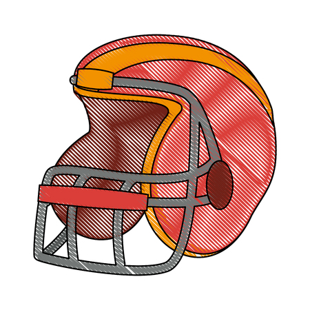 American football helmet icon vector illustration graphic design Stock Illustratie