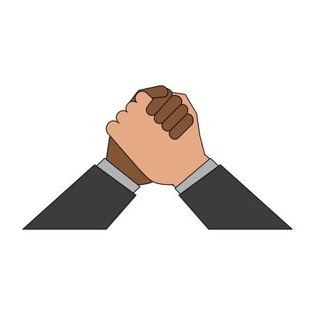 Ethnics hands symbol icon vector illustration graphic design Illustration