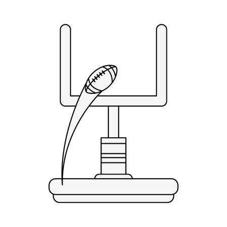 American football goal icon vector illustration graphic design Stock Illustratie