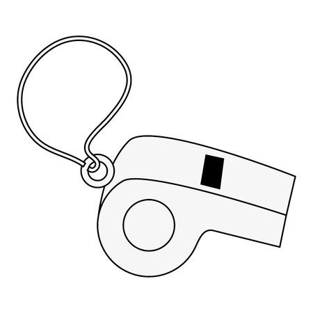 Referee sport whistle icon vector illustration graphic design
