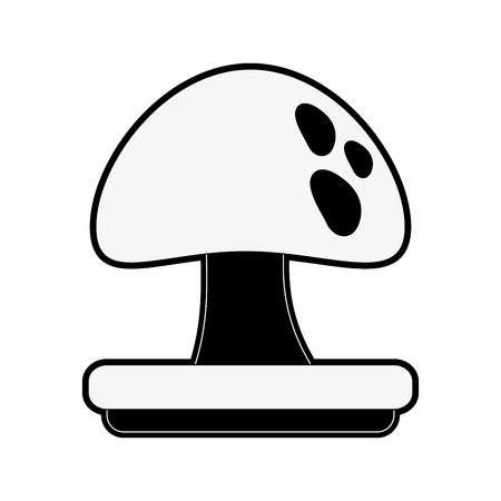 red mushroom isolated icon vector illustration graphic design